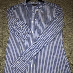 Ann Taylor ruffled button up! Worn once!